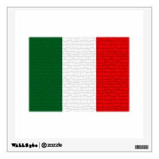 Italy Flag Snake Skin Wall Decor