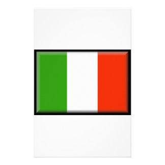 Italy Flag Custom Stationery