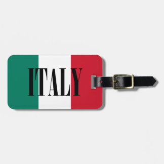Italy flag tag for luggage