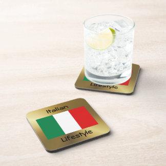 Italy Flag+Text Coaster