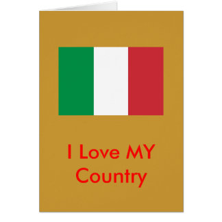Italy Flag The MUSEUM Zazzle I Love MY Country Greeting Card