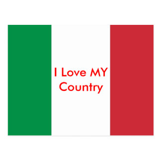 Italy Flag The MUSEUM Zazzle I Love MY Country Postcard