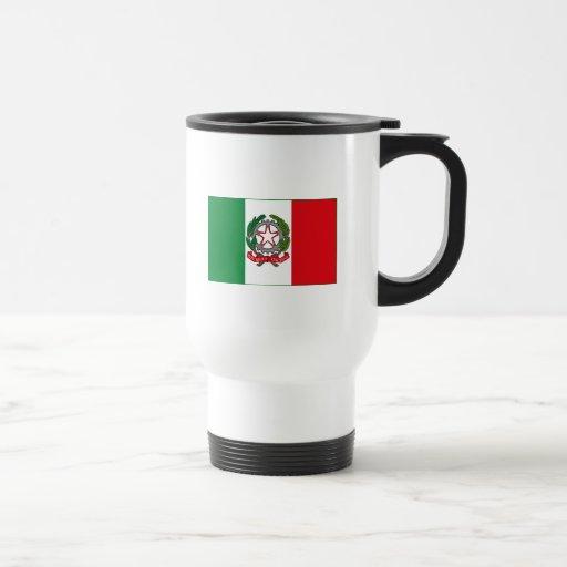 Italy Flag w COA (light) Mug