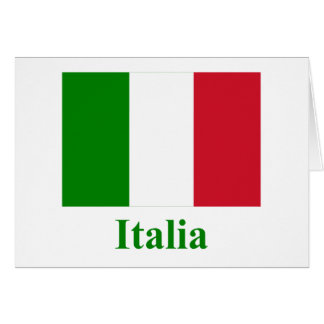Italy Flag with Name in Italian Card