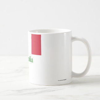 Italy Flag with Name in Italian Coffee Mug