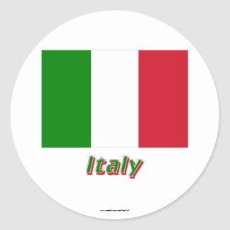 Italy Flag with Name Stickers