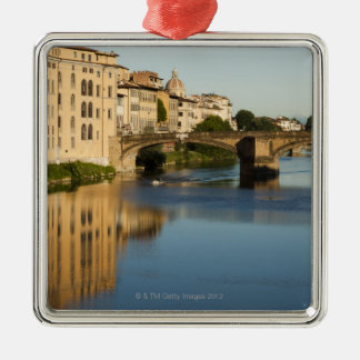 Italy, Florence, Bridge over River Arno Christmas Tree Ornaments