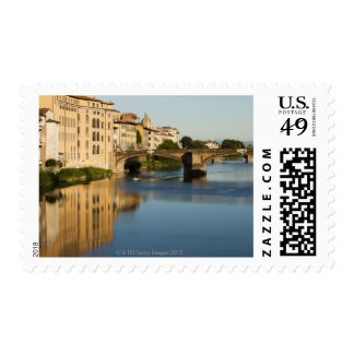 Italy, Florence, Bridge over River Arno Postage Stamp