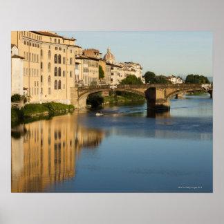 Italy, Florence, Bridge over River Arno Print
