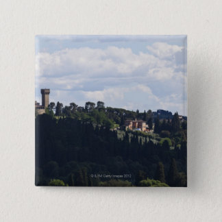 Italy, Florence, Castle on hilltop 2 Pinback Button