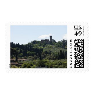 Italy, Florence, Castle on hilltop Stamp