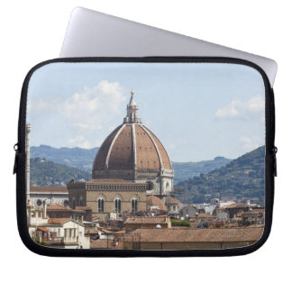 Italy, Florence, Cityscape with Duomo Laptop Sleeve