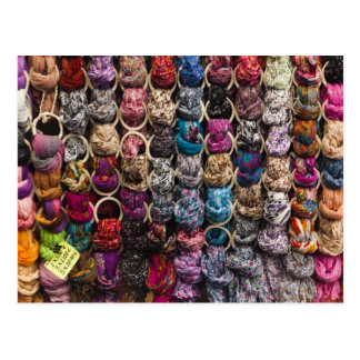Italy, Florence, Colourful scarves outside shop Postcard