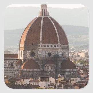 Italy, Florence, Dome of Duomo cathedral Square Sticker