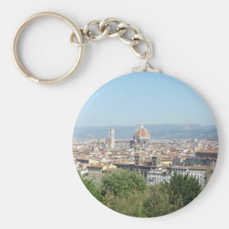Italy Florence Duomo Michelangelo Square (New) Basic Round Button Keychain