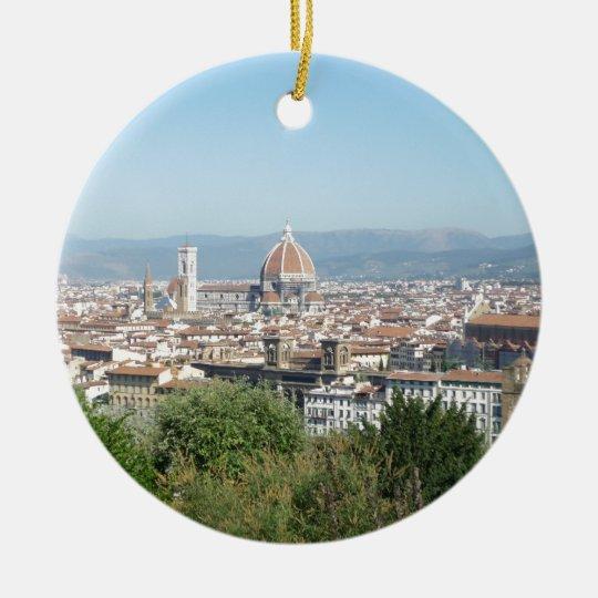 Italy Florence Duomo Michelangelo Square (New) Ceramic Ornament