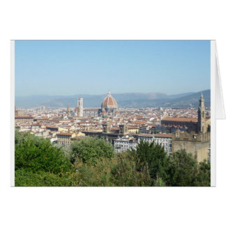 Italy Florence Duomo Michelangelo Square (New) Greeting Card