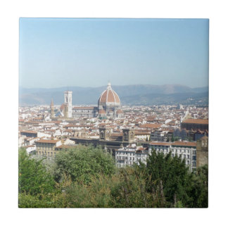 Italy Florence Duomo Michelangelo Square (New) Small Square Tile