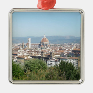 Italy Florence Duomo Michelangelo Square (New) Square Metal Christmas Ornament