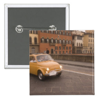 Italy, Florence. Fiat 800 Rally crosses Arno Button