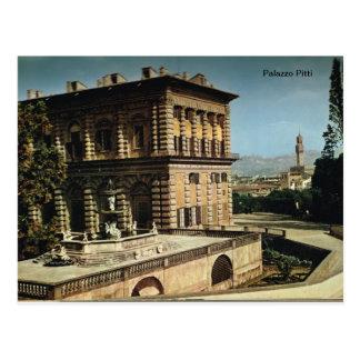 Italy, Florence, Firenze, 1908, Palazzo Pitti, Postcard