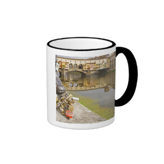 Italy, Florence, Love Locks and Reflections in Ringer Mug