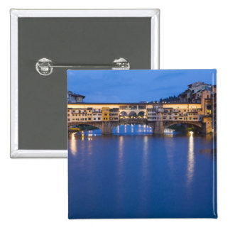 Italy, Florence, Night Reflections in the Pinback Button