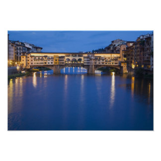 Italy, Florence, Night Reflections in the Poster