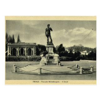 Italy, Florence, Piazzale Michelangelo, David Postcard