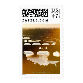 Italy, Florence, Ponte Vecchio and River Arno at Postage