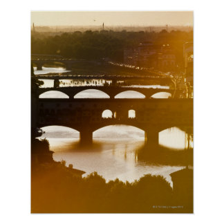 Italy, Florence, Ponte Vecchio and River Arno at Poster