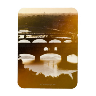 Italy, Florence, Ponte Vecchio and River Arno at Rectangular Photo Magnet