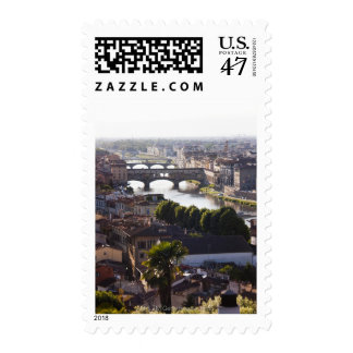 Italy, Florence, Ponte Vecchio and River Arno Postage