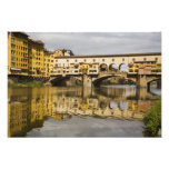 Italy, Florence, Reflections in the River Arno Photo Art