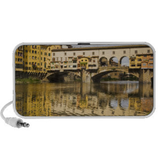 Italy, Florence, Reflections in the River Arno Laptop Speakers
