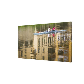 Italy, Florence, Rowing Sculls with 2 Canvas Print