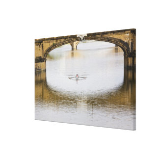 Italy, Florence, Rowing Sculls with Canvas Print
