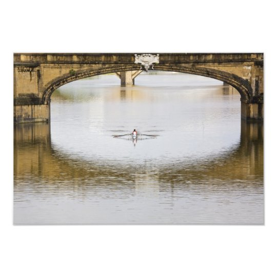 Italy, Florence, Rowing Sculls with Photo Print