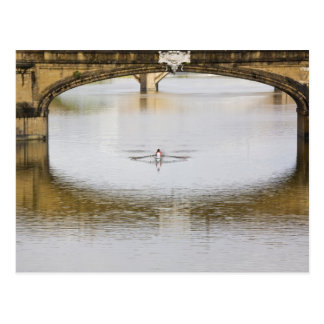 Italy, Florence, Rowing Sculls with Postcard