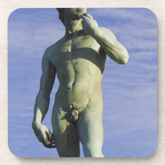 Italy, Florence, Statue of David against sky Beverage Coaster