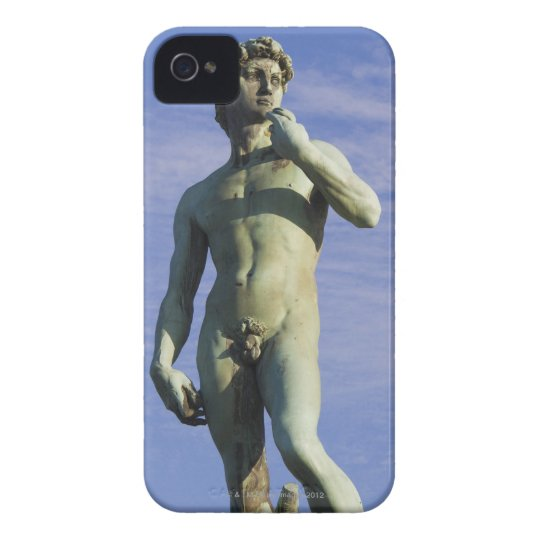 Italy, Florence, Statue of David against sky iPhone 4 Cover