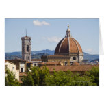 Italy, Florence, View of Florence Cathedral Cards