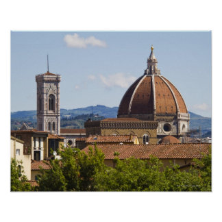 Italy, Florence, View of Florence Cathedral Poster