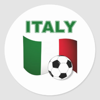Italy Football 2010 World Cup Classic Round Sticker