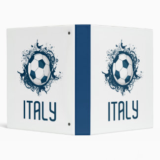 Italy Football 3 Ring Binder