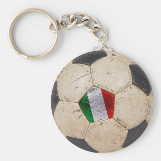 Italy Football Basic Round Button Keychain