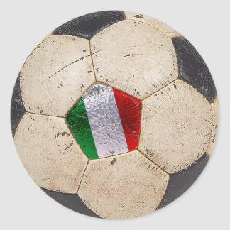 Italy Football Classic Round Sticker