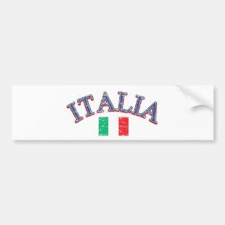 Italy football design car bumper sticker