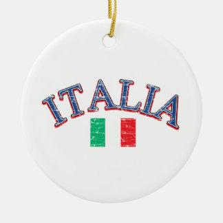 Italy football design ceramic ornament