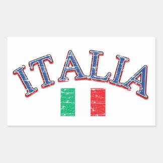 Italy football design rectangular sticker